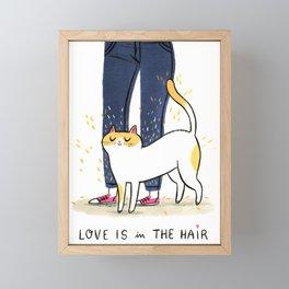 Love is in the hair Framed Mini Art Print
