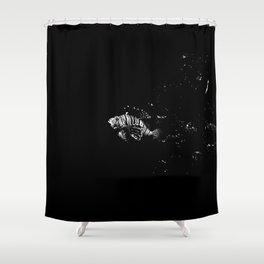 deep black Shower Curtain