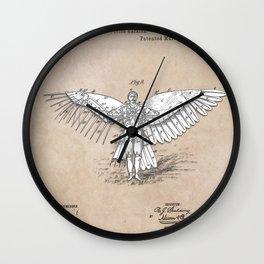 patent art Spalding Flying Machine 2    1889 Wall Clock