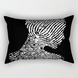 Fingerprint Silhouette Portrait Rectangular Pillow