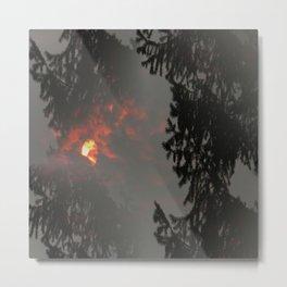 Fiery Smokey Sun.... Metal Print