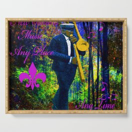 NEW ORLEANS JAZZ TROMBONE LET THE GOOD TIMES ROLL!! Serving Tray