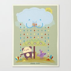 color raindrops keep falling on my head Canvas Print