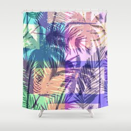 Tropical Retro Shower Curtain