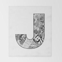 Cutout Letter J Throw Blanket