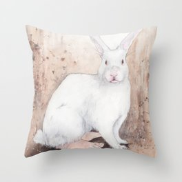 What If...?? Rabbits Had Feet. Throw Pillow