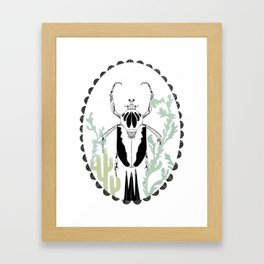 Beetle Portrait Framed Art Print