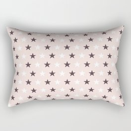 Deep purple and white stars on pale pink Rectangular Pillow