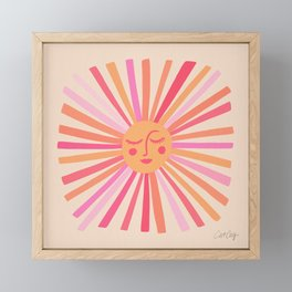 Sunshine – Pink Framed Mini Art Print