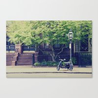 vespa Canvas Prints featuring Vespa by thirteesiks