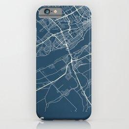Levis Blueprint Street Map, Levis Colour Map Prints iPhone Case