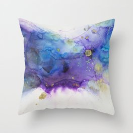 Make a Wish Alcohol Ink Painting Throw Pillow