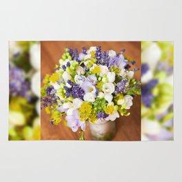 Bridal freesia bouquet wedding flowers Rug