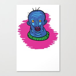 Blue Man Berry Canvas Print
