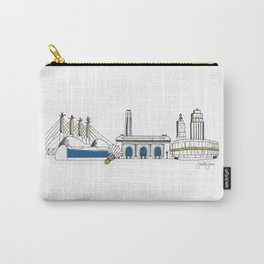 Kansas City Skyline Illustration in KC Royals Colors Carry-All Pouch