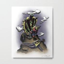 Power Throne Metal Print