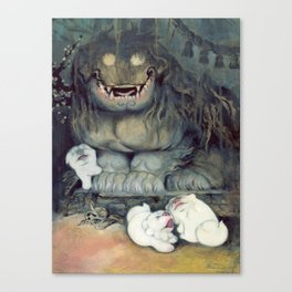 Old mountain dog mother Canvas Print