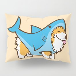 Corgi in a Shark Suit Pillow Sham