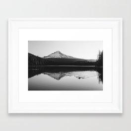 Wild Mountain Sunrise - Black and White Nature Photography Framed Art Print