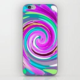 Purple twirl iPhone Skin