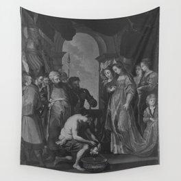 Peter Paul Rubens - Tomyris lässt das Haupt des Cyrus in Blut tauchen (nach dem Stich von Paulus Pon Wall Tapestry