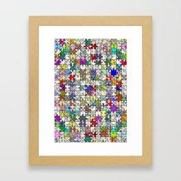 Jigsaw junkie Framed Art Print