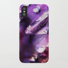 Purple diamonds iPhone X Slim Case