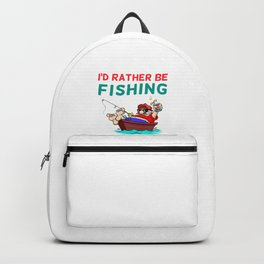 I'd Rather be Fishing Design Backpack