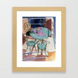 Table for Four Framed Art Print