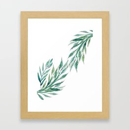 Watercolor Laurel Leaves Framed Art Print