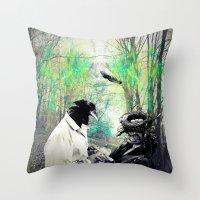 birdman Throw Pillows featuring Birdman by Cs025