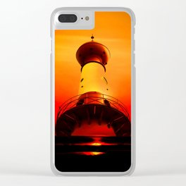 Lighthouse romance Clear iPhone Case