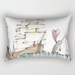 Accordion Sea Rectangular Pillow