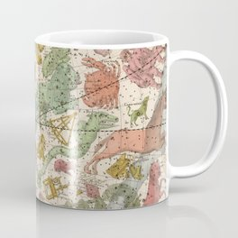 Libra Antique Astrology Zodiac Pictorial Map Coffee Mug
