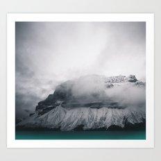 Dreary Mountain Art Print