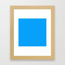 Sky Blue Colour Framed Art Print
