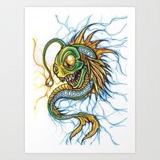 Angler Illustration Art Print