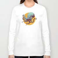 octopus Long Sleeve T-shirts featuring Octopus by Calavera