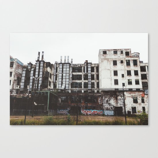 Factory Town Canvas Print