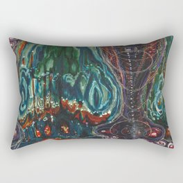 Pulse of Kelp (Sonic Sea Surge) Rectangular Pillow