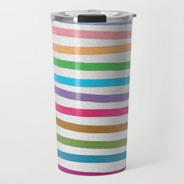 Colorful stripes pattern Travel Mug