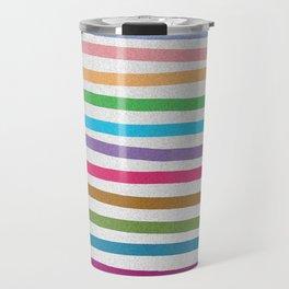 Colorful stripes pattern Travel Mug