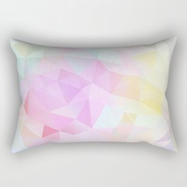Abstract print of triangles, polygon in pastel colors Rectangular Pillow
