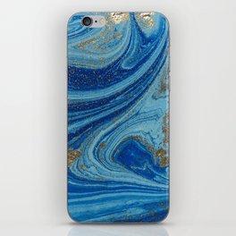 Blue & Gold Glitter iPhone Skin