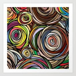 Rubberbands Art Print