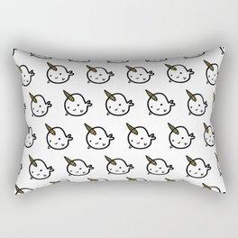 CUTE NARWHAL PATTERN - GOLD HORN Rectangular Pillow
