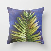 fern Throw Pillows featuring Fern by Olivia Joy StClaire