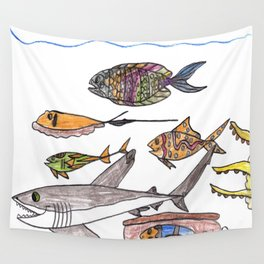 Party of Seven Wall Tapestry