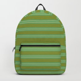 baby poo + mint stripes Backpack