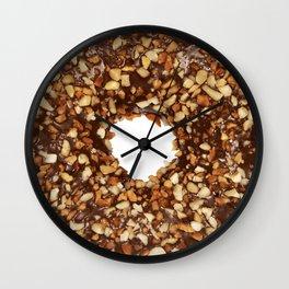 Overfill milk chocolate doughnut Wall Clock